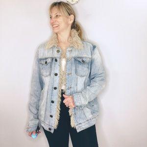 Show me your MuMu Durado fur distress denim jacket